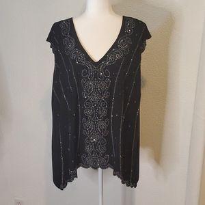 Collection Dressbarn Sequin Shirt